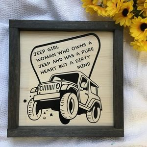 Hand Crafted | Jeep Girl Definition Wall Sign